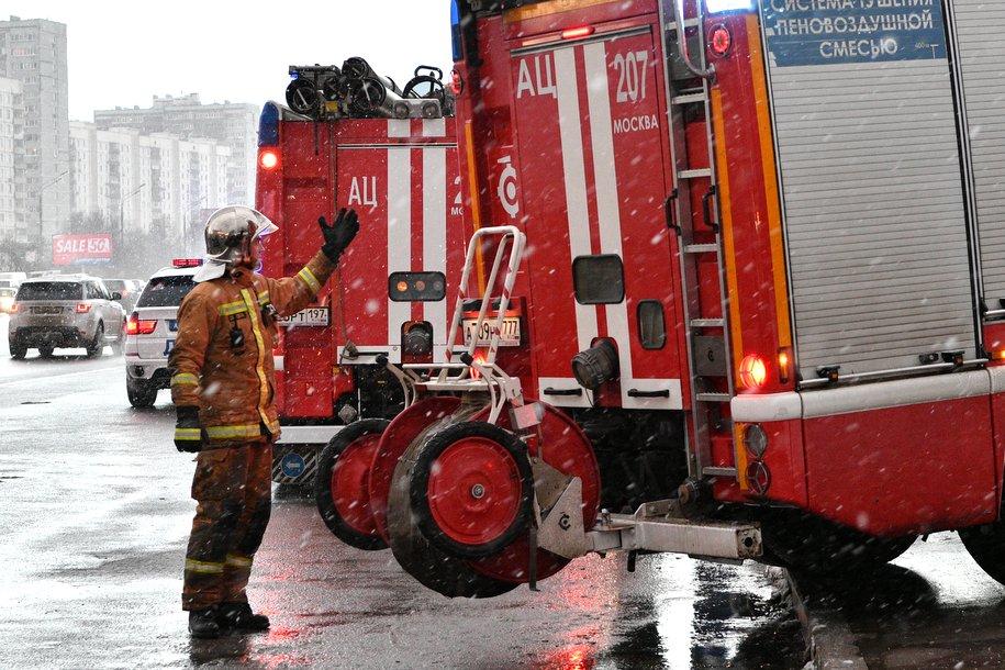 В кафе на западе столицы произошел пожар