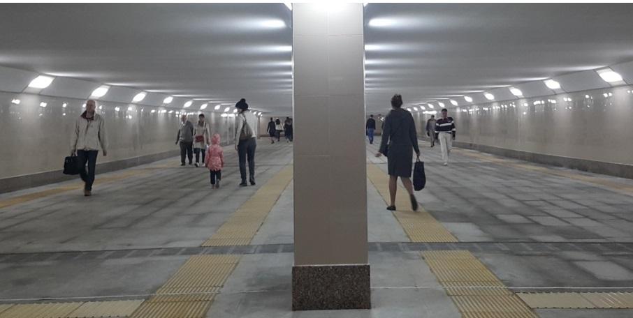 Два пешеходных перехода построили на шоссе Энтузиастов