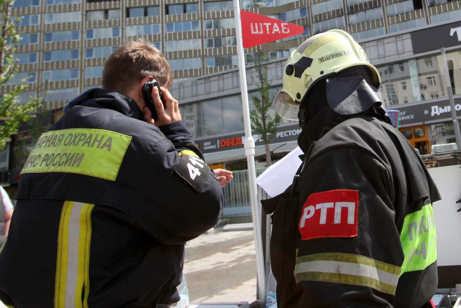 Пожар на северо-западе Москвы потушен