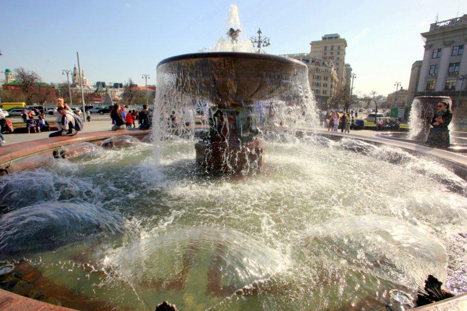 Сезон фонтанов откроется в Москве в конце апреля