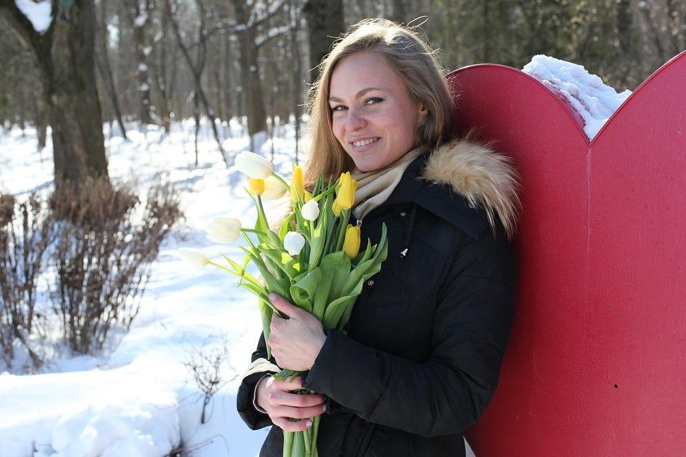 В Филях прошел «цветочный забег» в честь 8 Марта