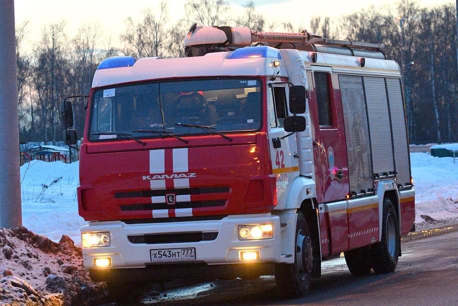 Восемь человек были спасены при тушении пожара в Хамовниках