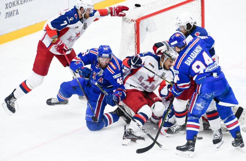 Московские армейцы уступили питерскому СКА в матче 1/2 финала Кубка Гагарина