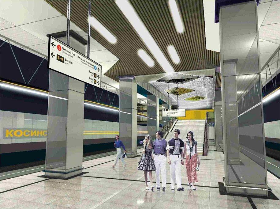 Станция «Косино» Кожуховской линии метро готова более, чем на 90%
