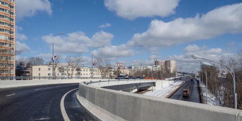 Сергей Собянин открыл эстакаду через Варшавское шоссе