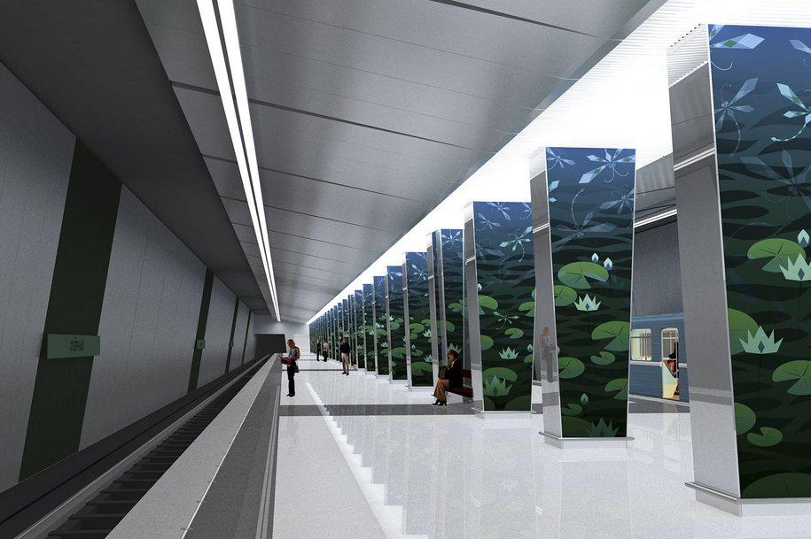Завершена отделка станции метро «Очаково»