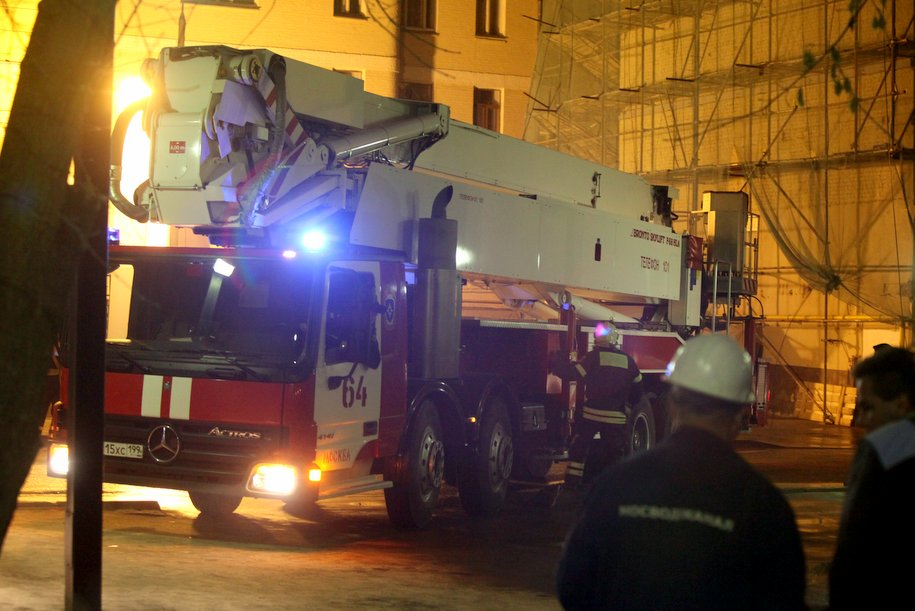 В центре Москвы произошло обрушение здания