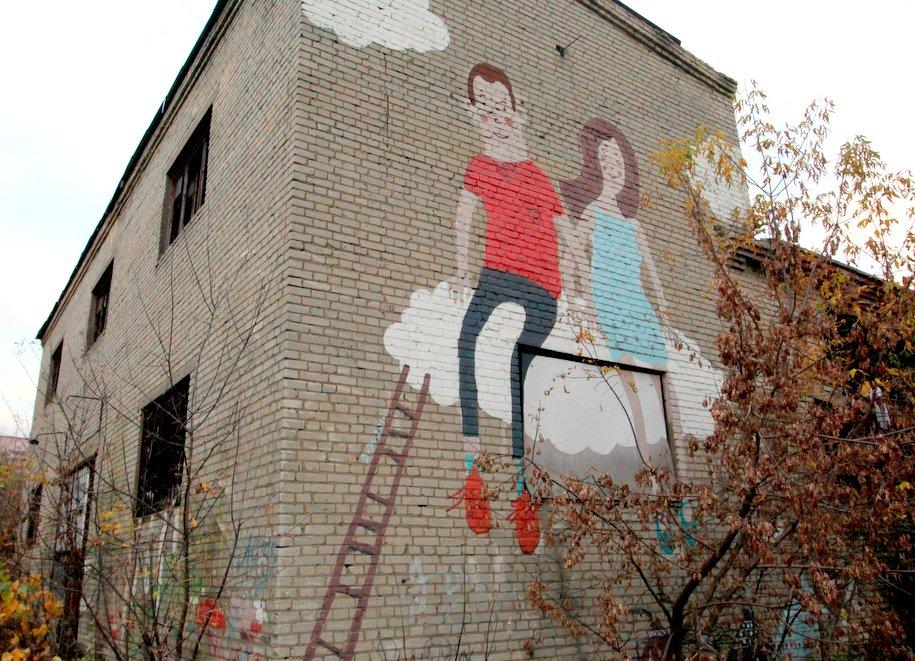 В столице закрасят рекламные граффити