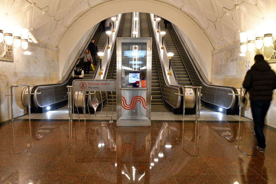 На станции метро «Тверская» закрыли на ремонт один из эскалаторов