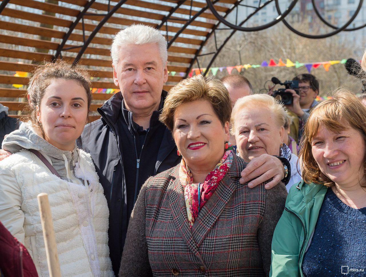 Сергей Собянин посетил субботник в районе Орехово-Борисово