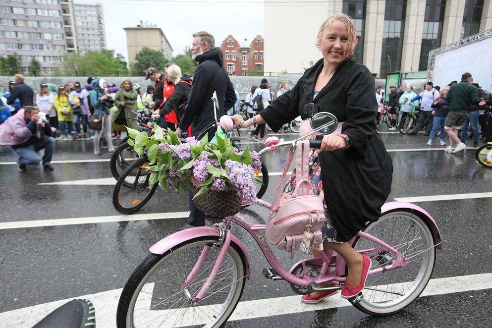 В Московском велопараде приняли участие более 40 тысяч человек