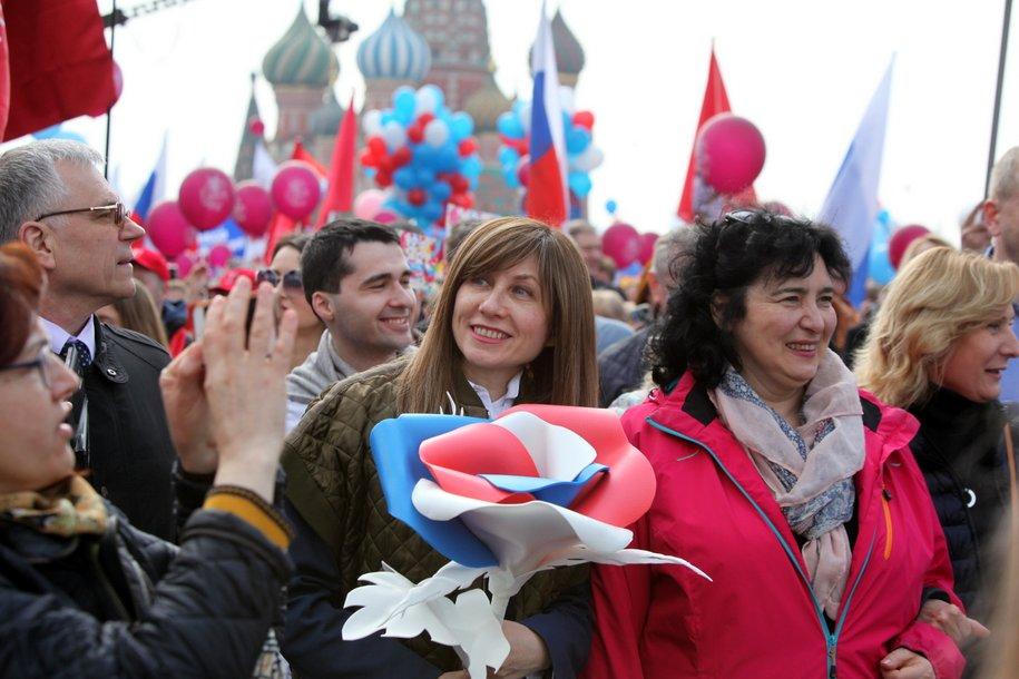 Свыше 1,5 млн человек приняли участие в первомайских мероприятиях в Москве