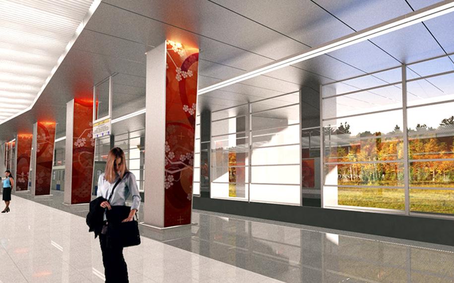 Отделка платформы станции метро «Мичуринский проспект» завершена