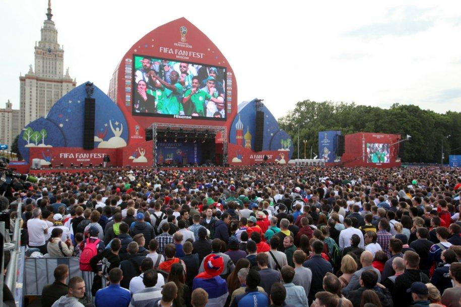 Фестиваль болельщиков на Воробьёвых горах посетили почти 70 тыс. человек