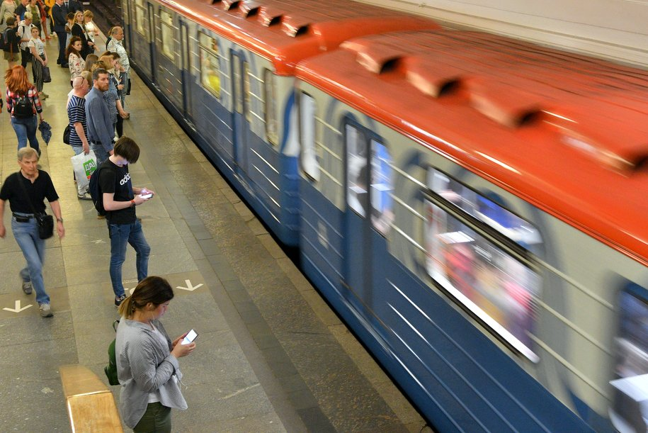 Второй поезд «Москва» запустили на «оранжевой» линии метро