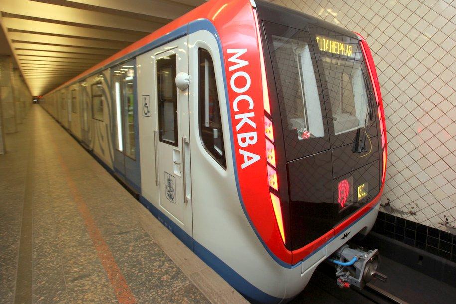 На Калужско-Рижской линии метро запустили седьмой поезд «Москва»