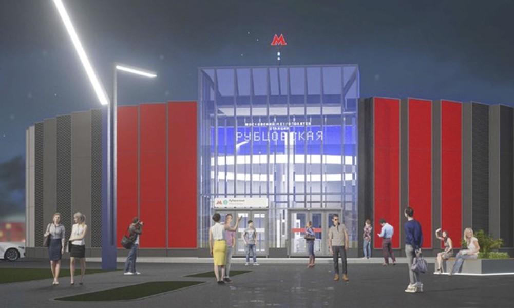 Утвержден дизайн станции «Рубцовская» Большой кольцевой линии метро