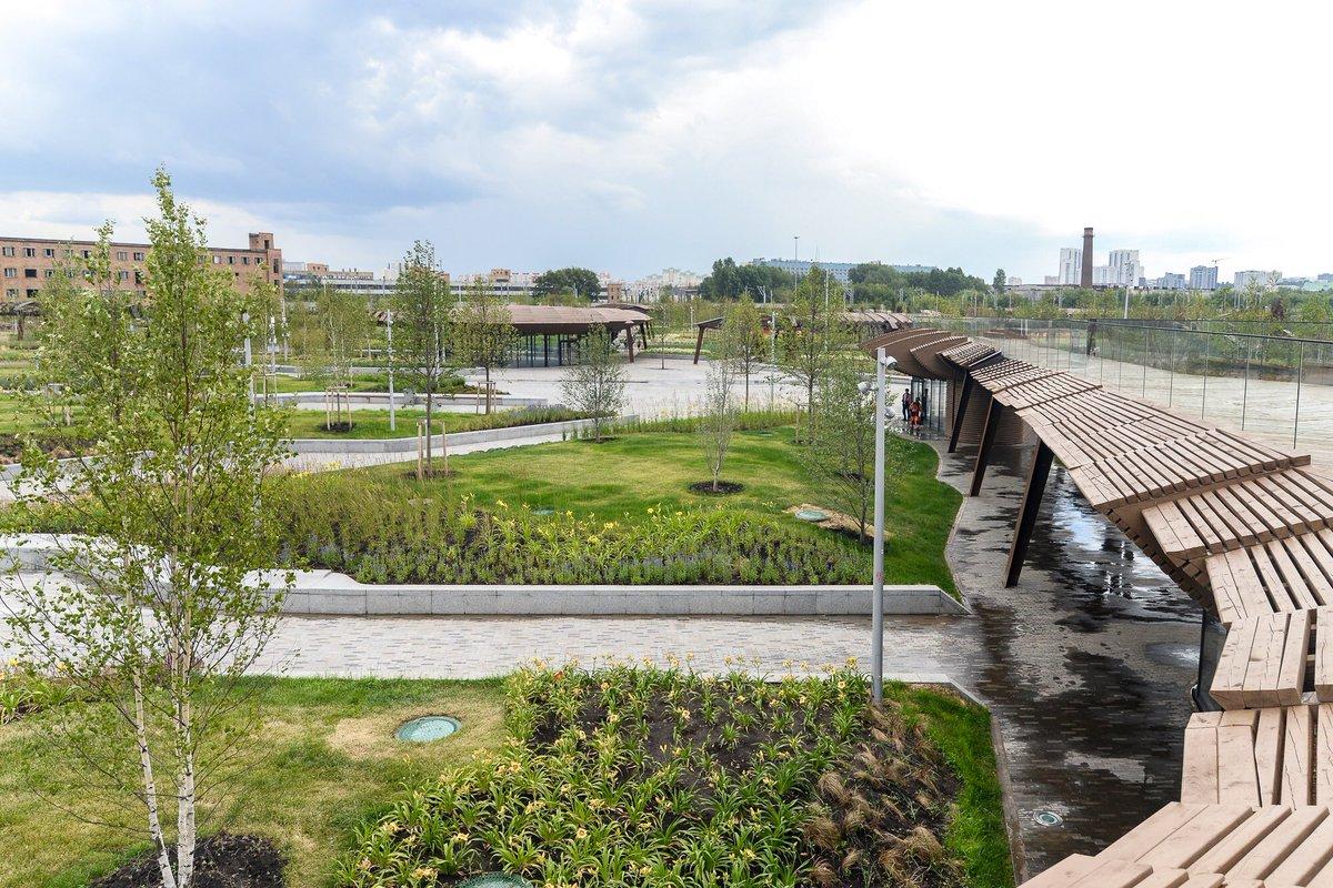 На территории бывшей промзоны ЗИЛ сделали ландшафтный парк