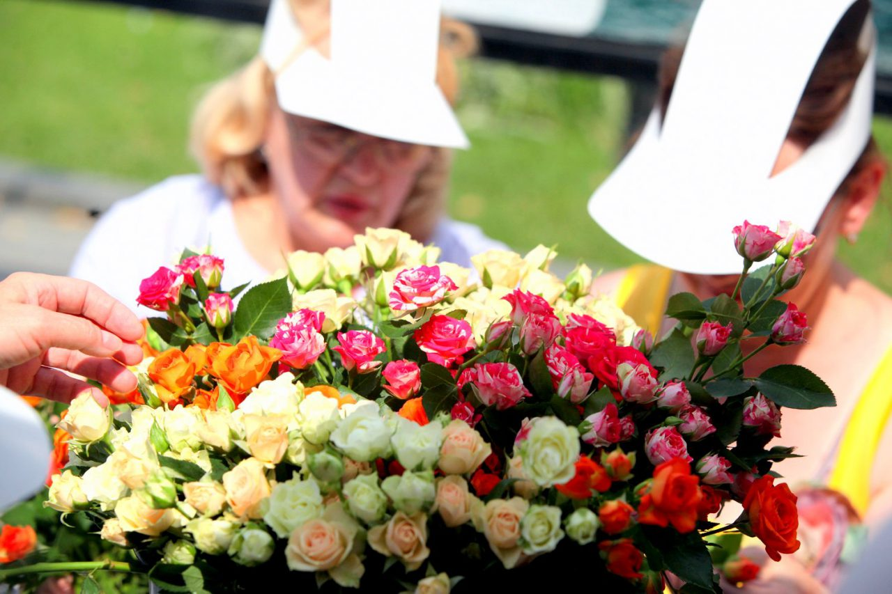 Городские клумбы украсили более 2.5 тысяч кустарниковых роз
