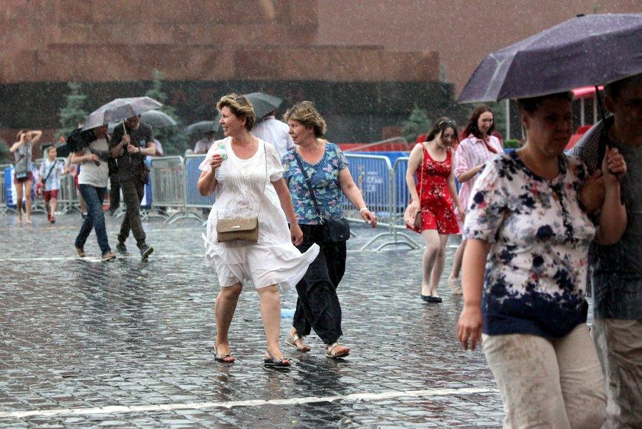 МЧС предупредил москвичей о грозе с дождем в ближайшие часы