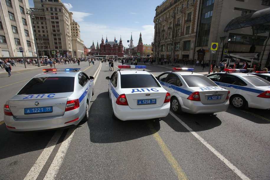 В центре Москвы перекрыто движение на некоторых улицах в связи с празднованием Дня Крещения Руси