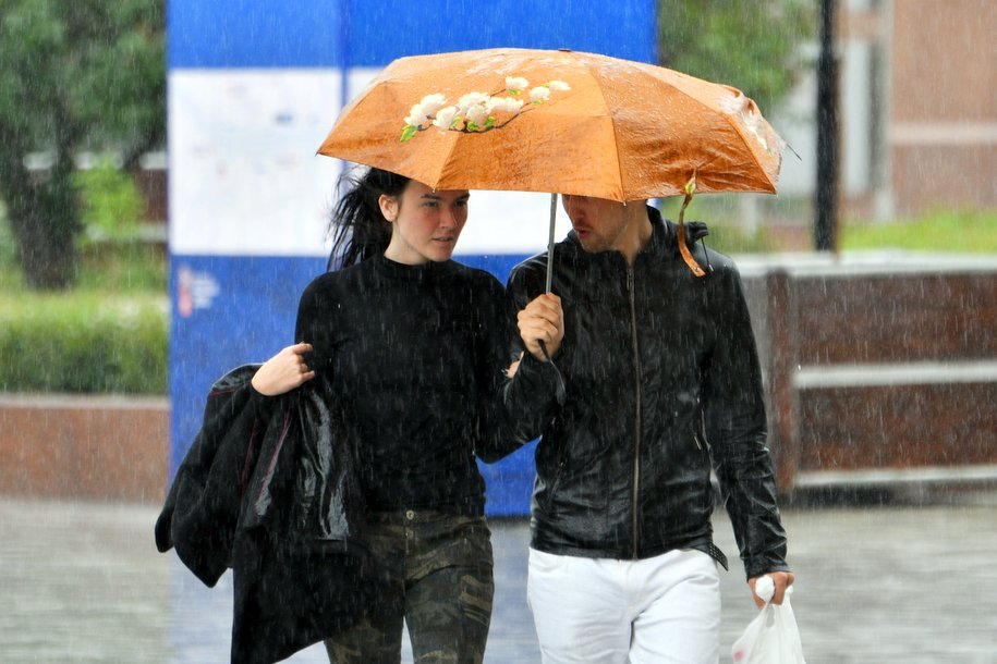 Во вторник москвичей ожидает дождь и ветер с порывами до 18 м/с
