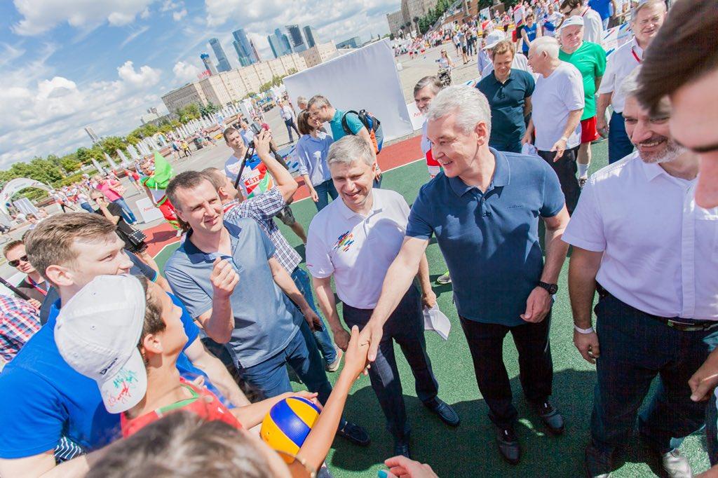 Сергей Собянин отметил День железнодорожника в Парке Победы