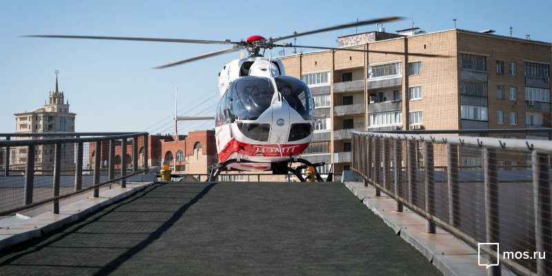 Вертолёт МАЦ эвакуировал трёхлетнего ребёнка, упавшего с высоты