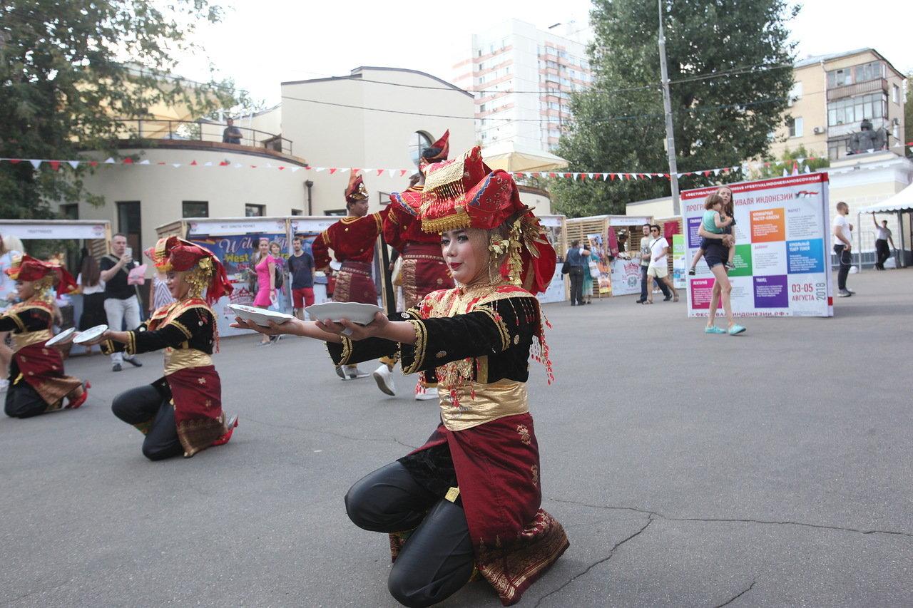 В парке «Красная Пресня» проходит фестиваль Индонезии