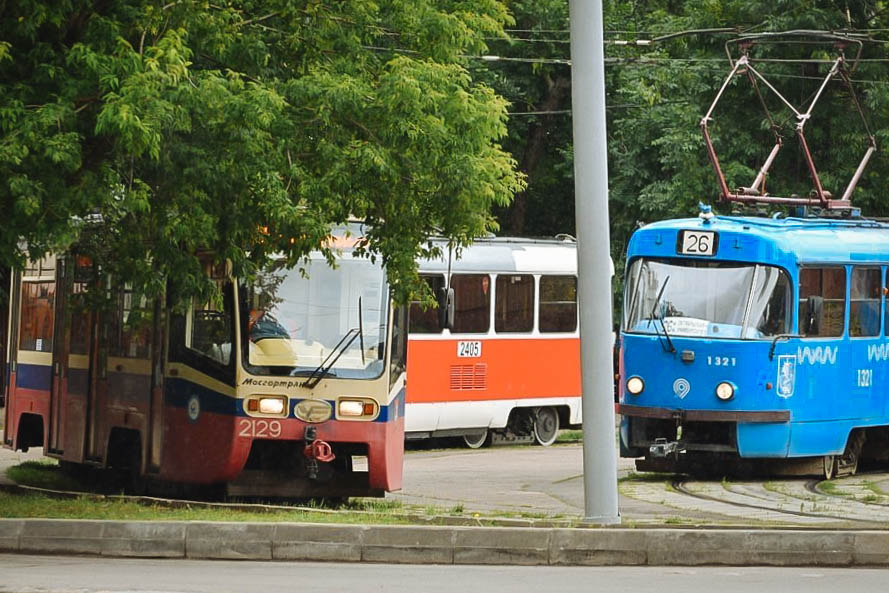 На Лефортовском мосту произошёл сбой в движении трамваев