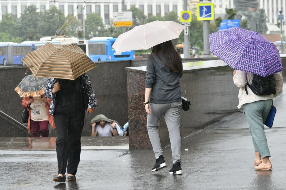 МЧС предупреждает москвичей о дожде с грозой, граде и порывах ветра до 20 м/с