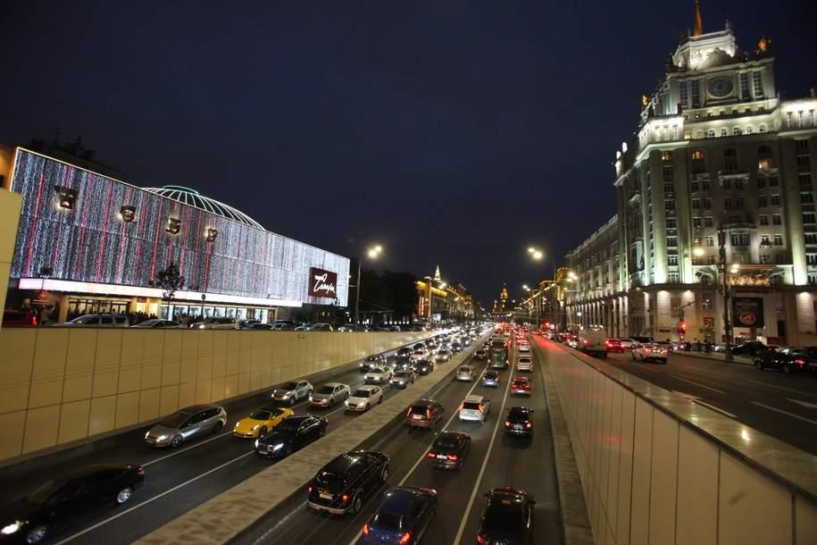 «Яндекс.Пробки»: загруженность столичных дорог оценивается в шесть баллов