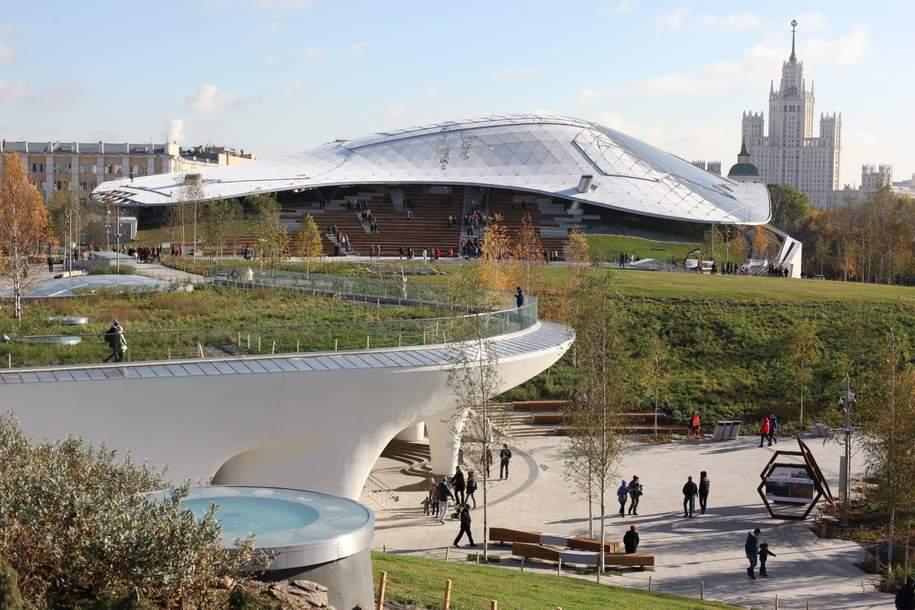 Владимир Путин и Сергей Собянин открыли концертный зал «Зарядье» в День города