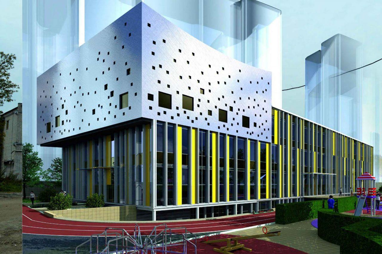 Учебный центр c оригинальным фасадом появится на севере столицы