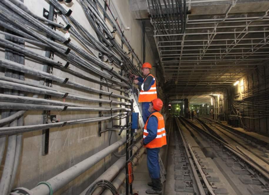 На станции «Савеловская» БКЛ метро готовы основные конструкции