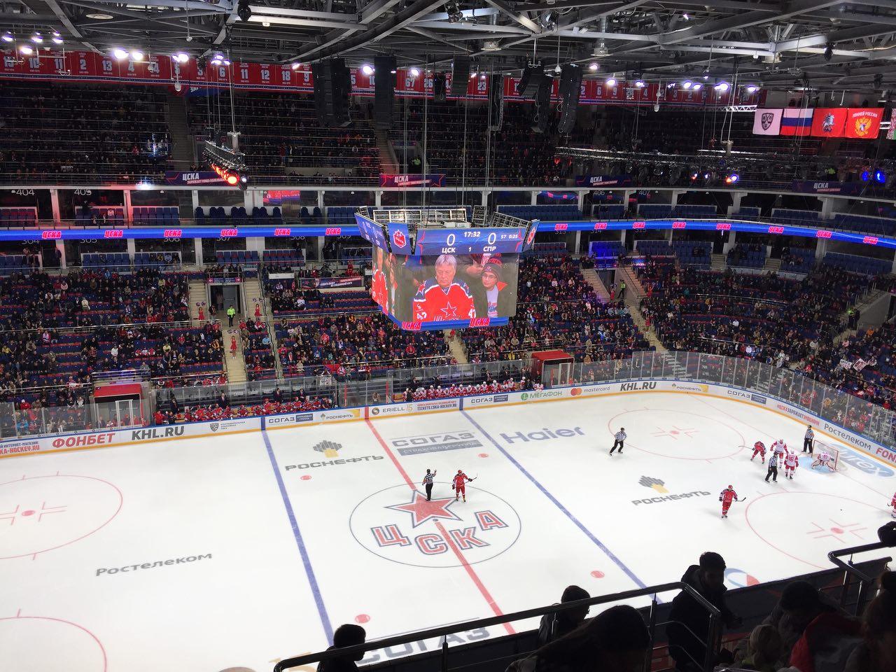 ЦСКА обыграл «Спартак» в хоккейном дерби