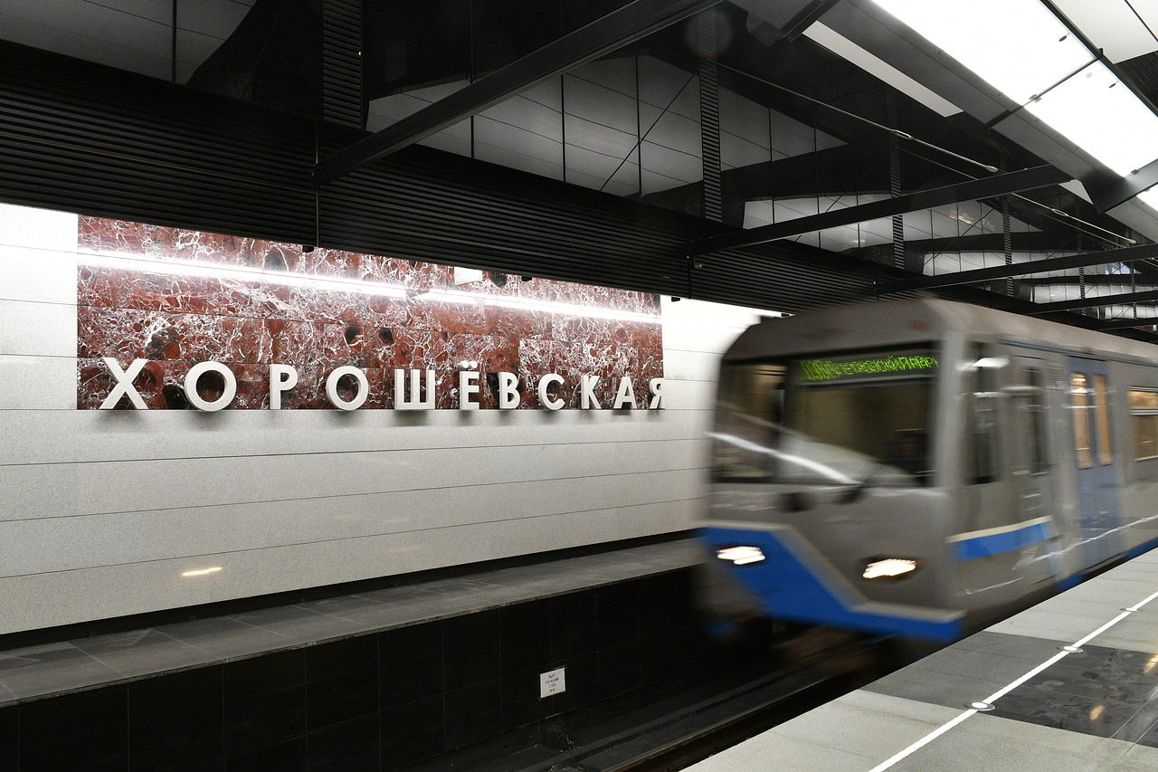 Режим пересадки со станции  метро «Полежаевская» на обе станции «Хорошевская» изменился до 29 декабря