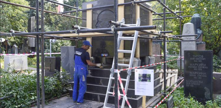 На Новодевичьем кладбище отреставрируют памятник архитектору Ивану Фомину
