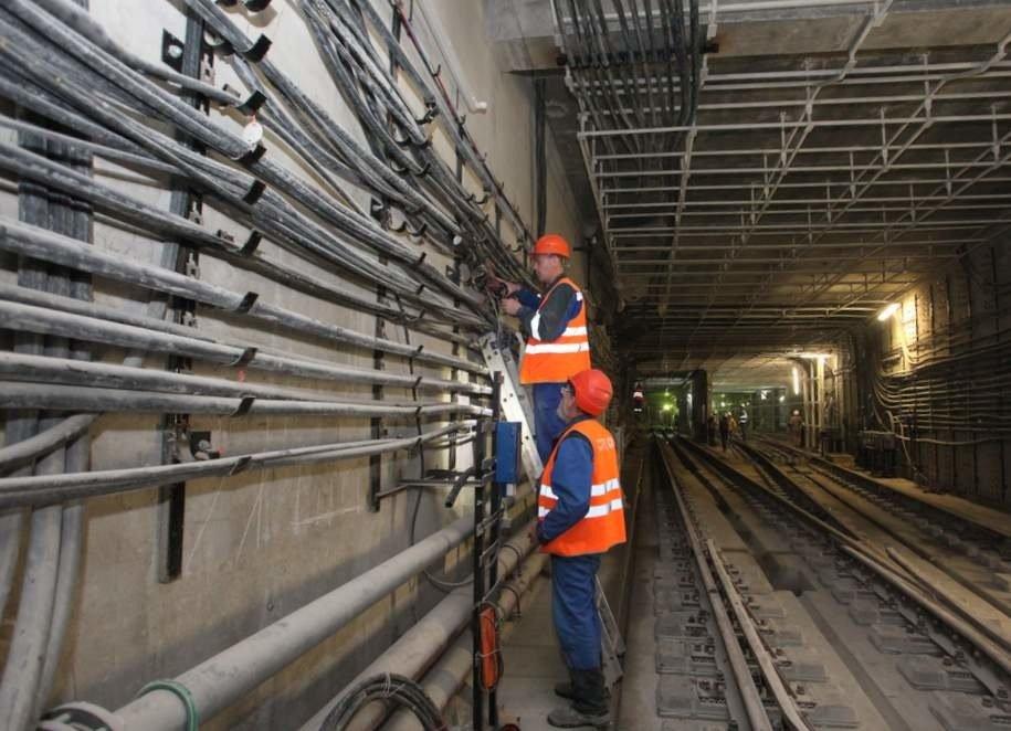 На станции «Воронцовская» БКЛ метро началось возведение основных конструкций