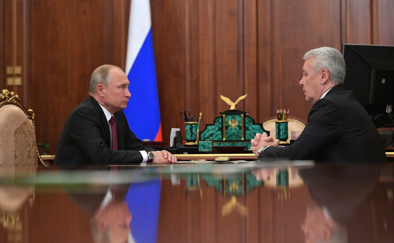 Сергей Собянин рассказал Владимиру Путину о развитии транспорта и экономики в Москве