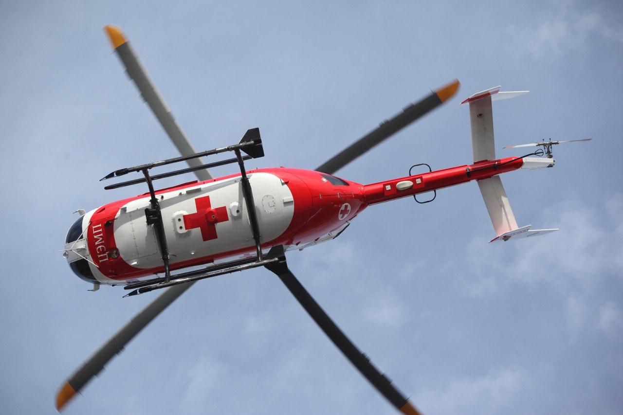 Вертолёт МАЦ доставил ещё двух пострадавших из Керчи в Москву