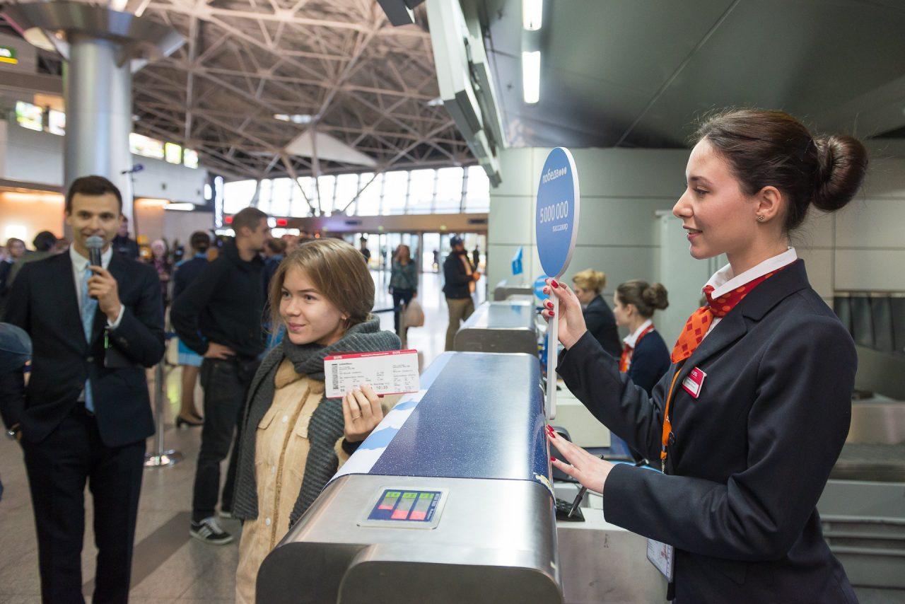 Авиакомпания «Победа» перевезла с начала года более 5 млн пассажиров