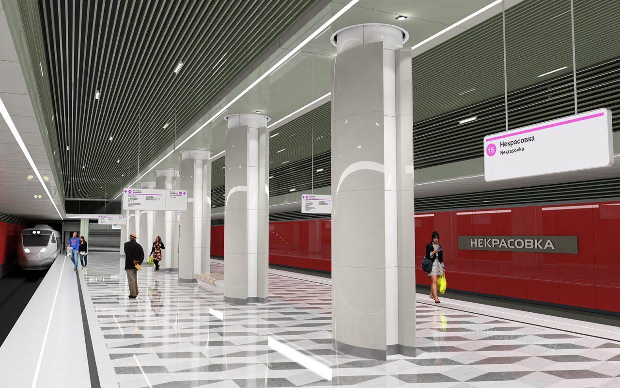 Участок Некрасовской линии от станции «Некрасовка» до станции «Косино» планируют открыть в конце года