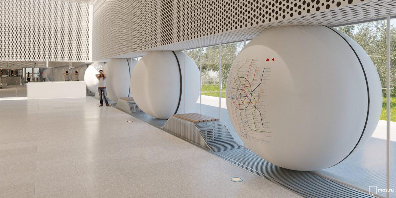 Утвержден дизайн станции метро «Шереметьевская»