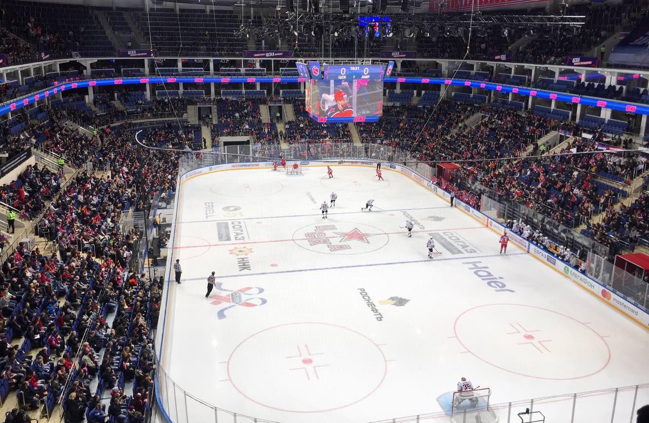 Москва признана самым хоккейным городом России