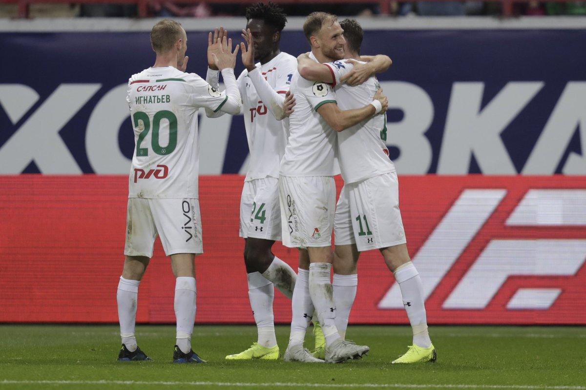 Московский «Локомотив» обыграл тульский «Арсенал» со счетом 3:1