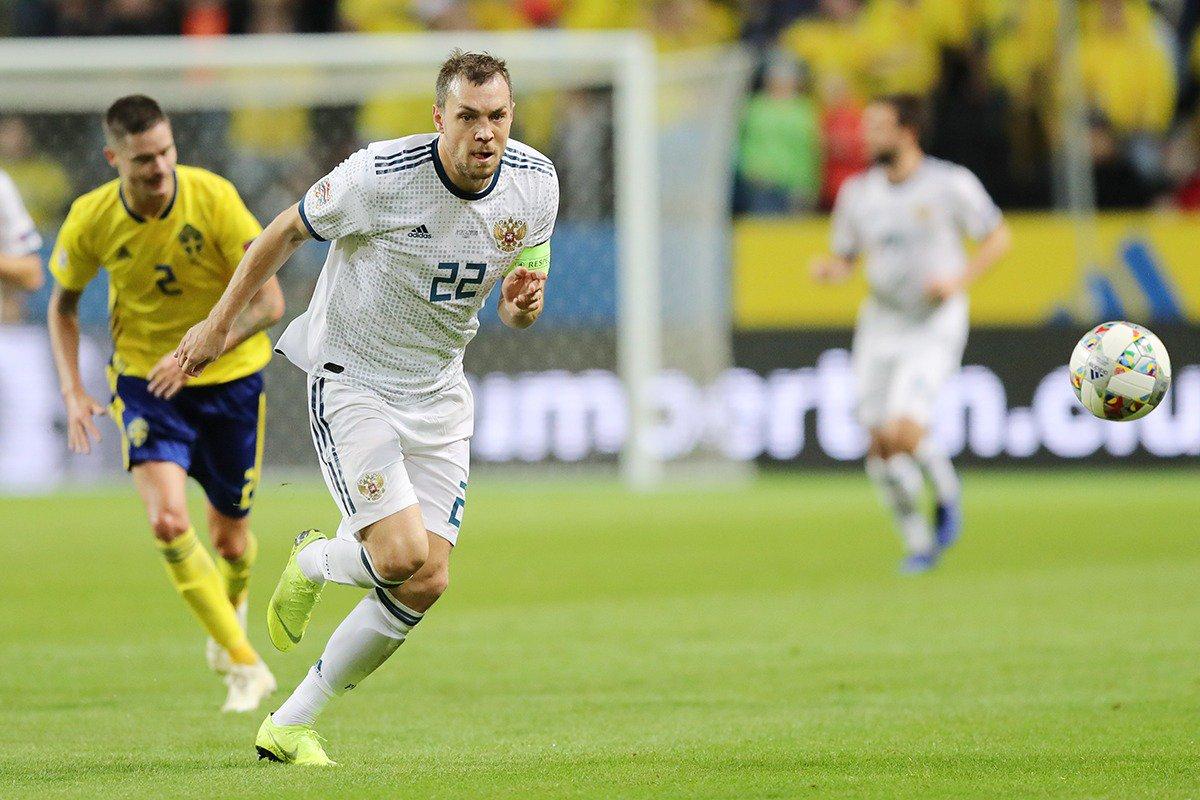 Сборная России проиграла шведам со счетом 0:2