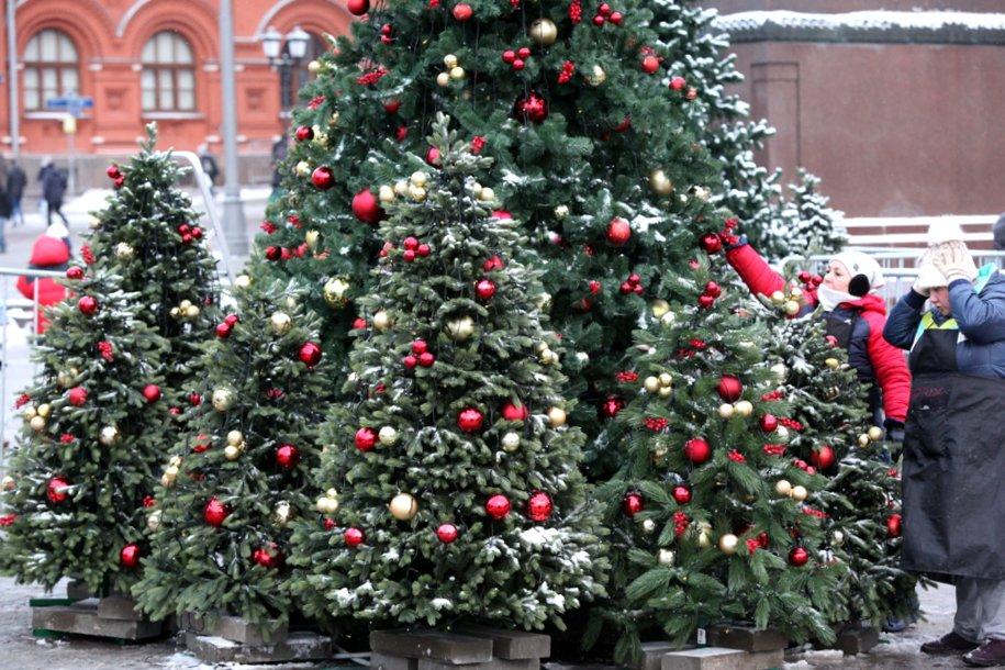 К Новому году в Москве установят почти 300 елей и около трех тысяч декоративных конструкций