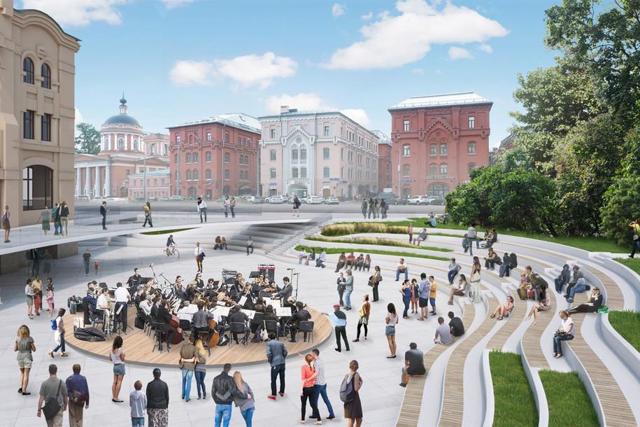 Парк с амфитеатром откроется у Политехнического музея в 2019 году