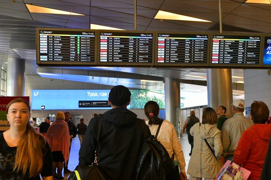 В столичных аэропортах задержано и отменено почти 35 рейсов